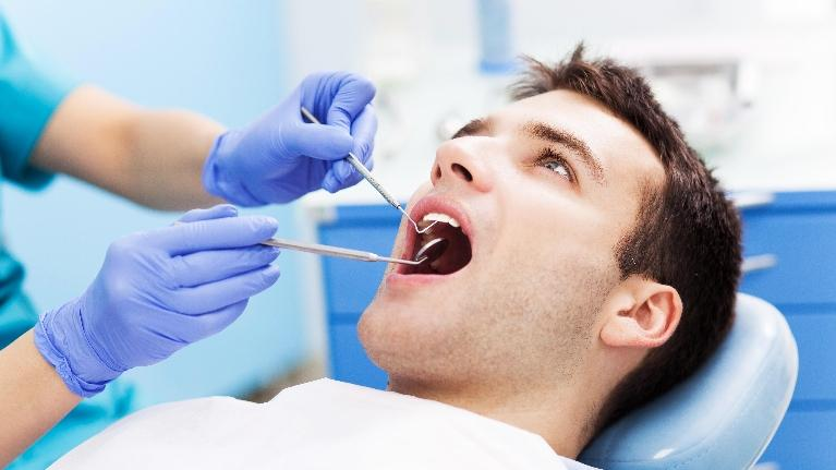 Man in Dental Chair | Top Dentist in Fairfax VA